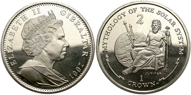 queen elizabeth 2nd crown. ELIZABETH II-GIBRALTAR 2001