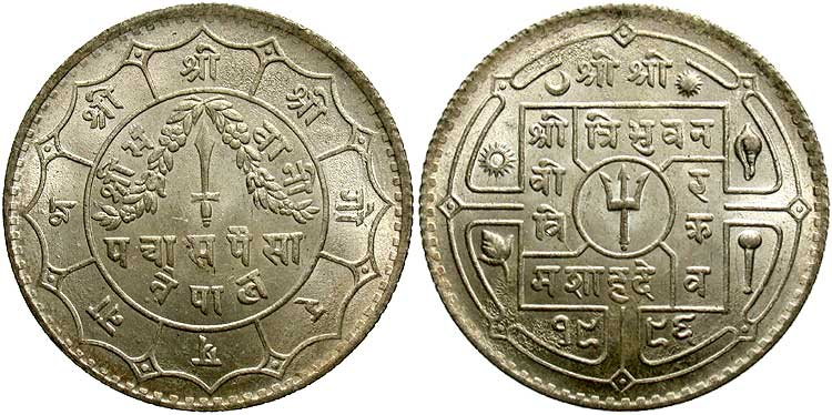 dating nepalese coins